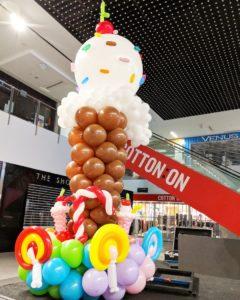 Large Balloon Ice Cream Sculpture