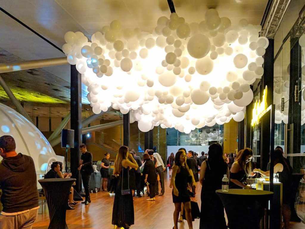 Lighted Balloon Clouds in Singapore
