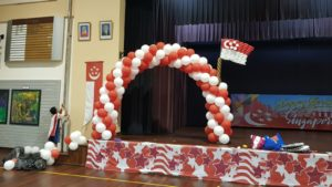 Balloon Arch Decorations for National Day