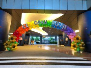 Large Rainbow Balloon Arch Singapore