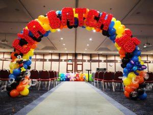 Rainbow Cartoon Balloon Arch