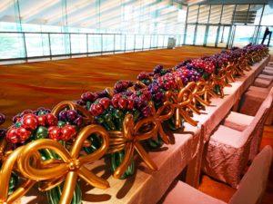 Chrome Balloon Flower Bouquet Sculptures