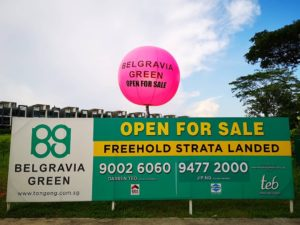 Pink Tripod Balloon Stand Singapore