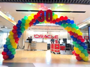 4 colours Balloon Arch