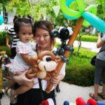 Balloon Kola Bear on Tree Sculpture