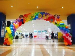 Rainbow Balloon Arch for Lumileds Singapore