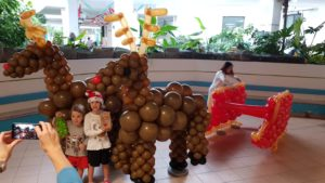 Balloon Christmas Reindeer Decorations