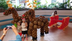Balloon Reindeer and Sleigh Decorations