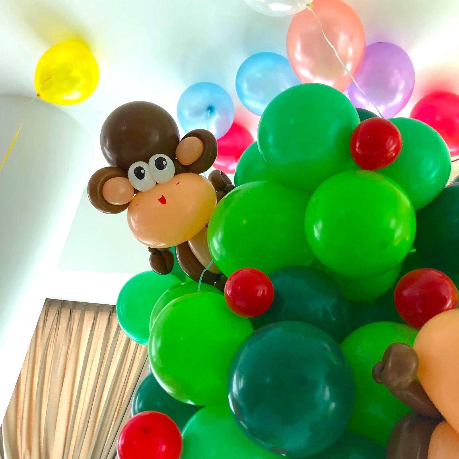 Balloon Monkey on Tree Decoration