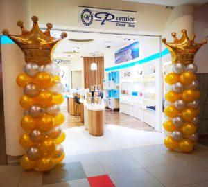 Crown Balloon Columns