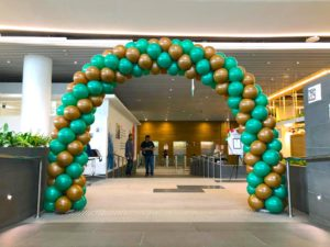 Green and Brown Balloon Arch Singapore