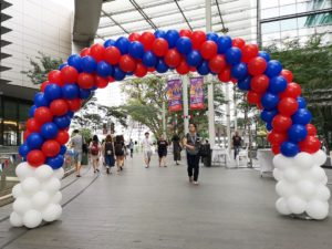Red and Blue Balloon Arch