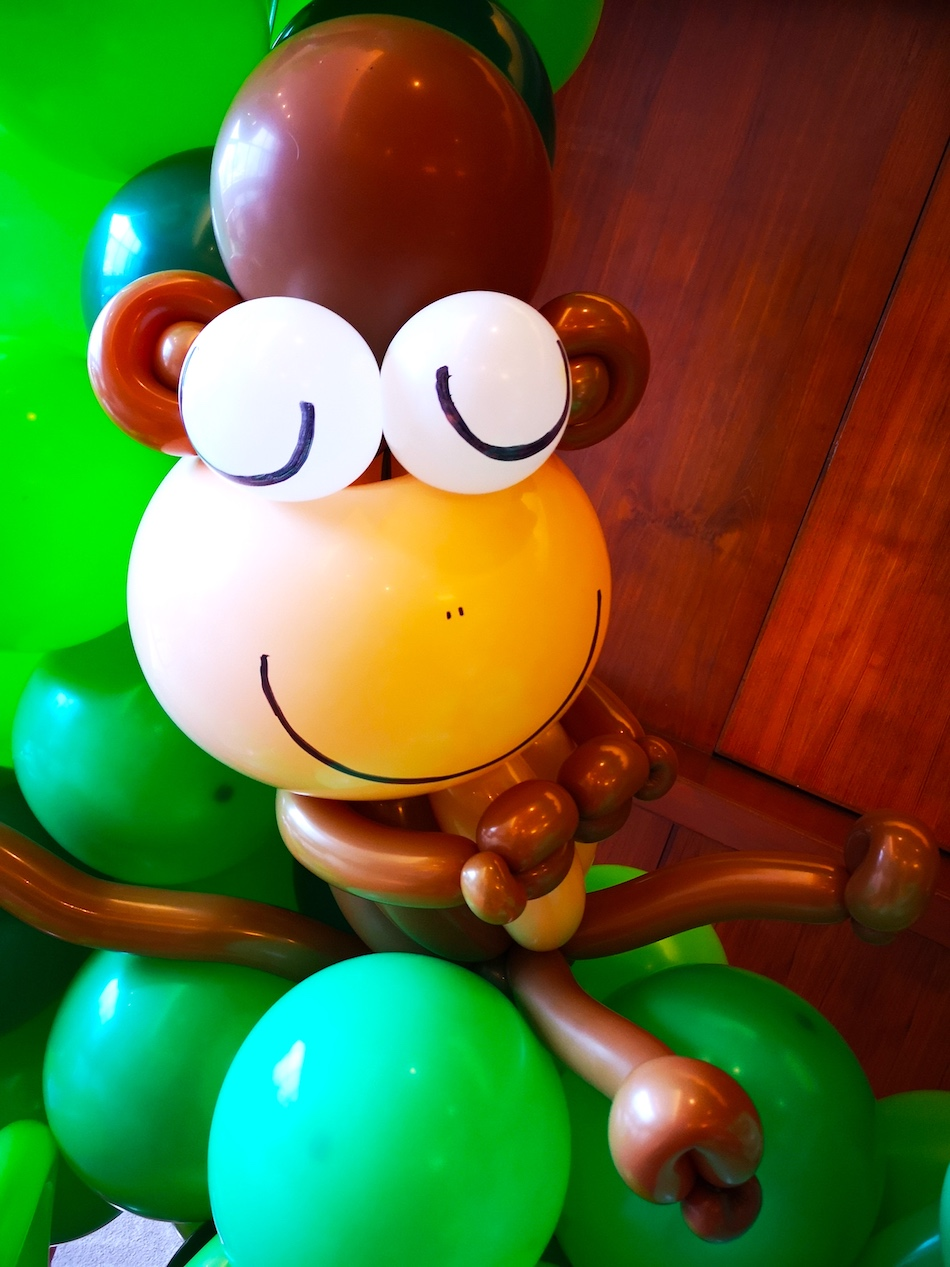 Sleeping Balloon Monkey Sculpture