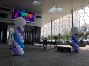 Spiral Balloon Columns Singapore