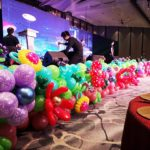 Stage Front Flower Balloon Decorations