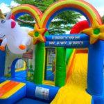Unicorn Playland Bouncy Castle Rental