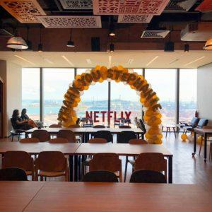 Balloon Arch for Netflix
