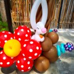 Balloon Flower and Rabbit Sculpture