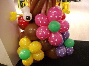 Balloon Flowers and Ladybug