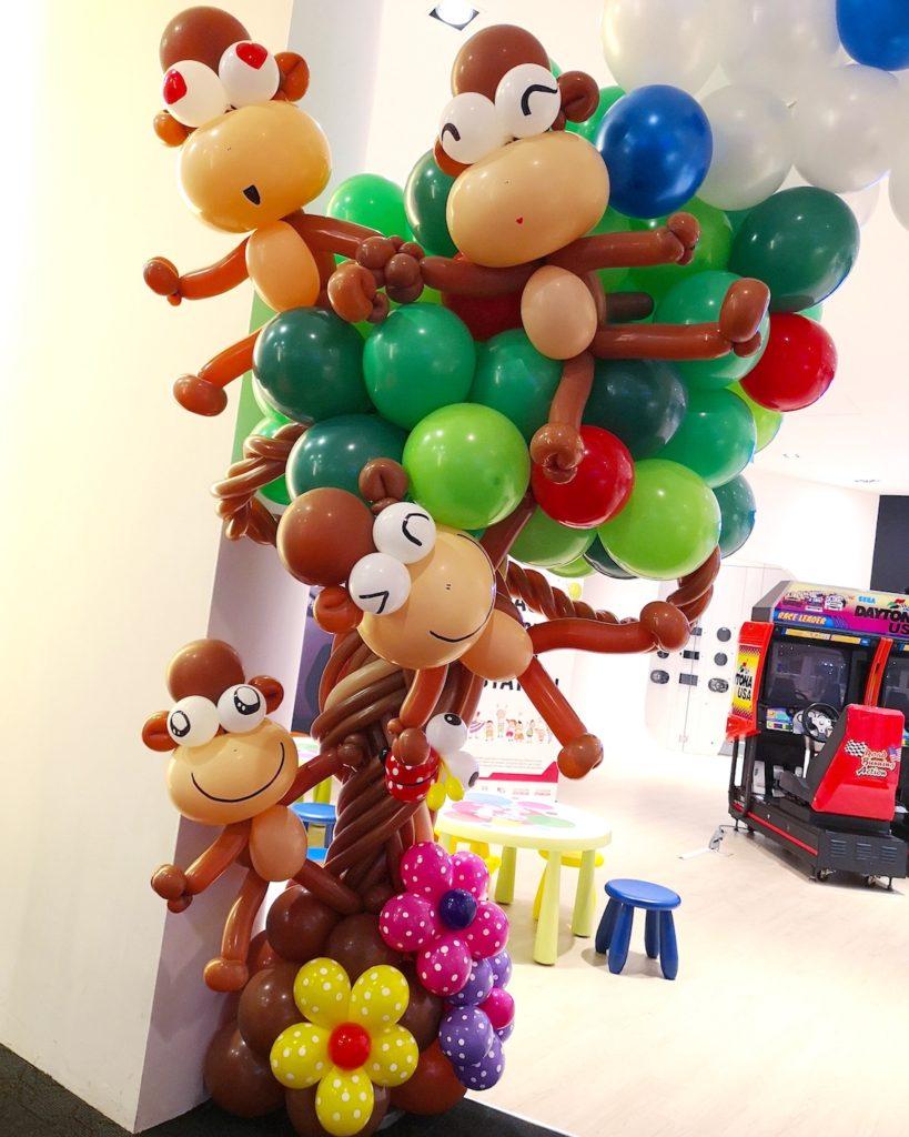 Balloon Monkey Sculptures on Tree