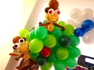 Balloon Monkey on Tree Sculptures