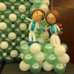 Balloon Nurses Sculpture Decor