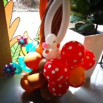 Balloon Rabbit and Flower Sculptures