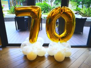 Foil Number Balloon Decoration