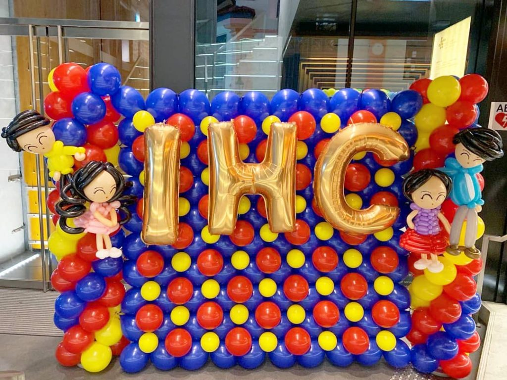 Balloon Backdrop for Indian Heritage Centre