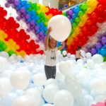 Balloon Rainbow and Clouds