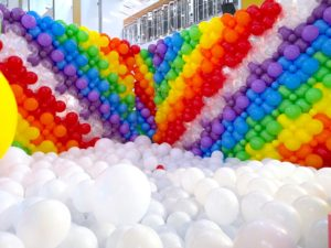 Rainbow and Cloud Balloon Pit