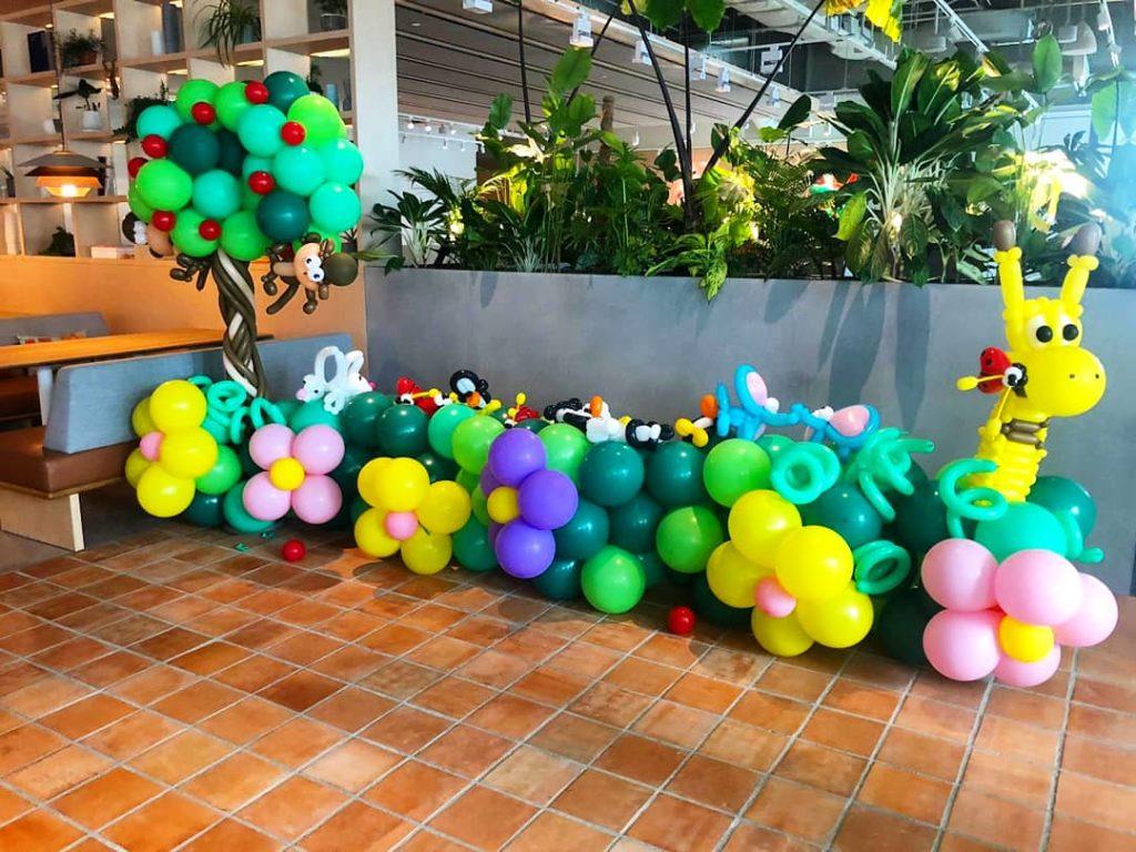 Garden Theme Balloon Decorations