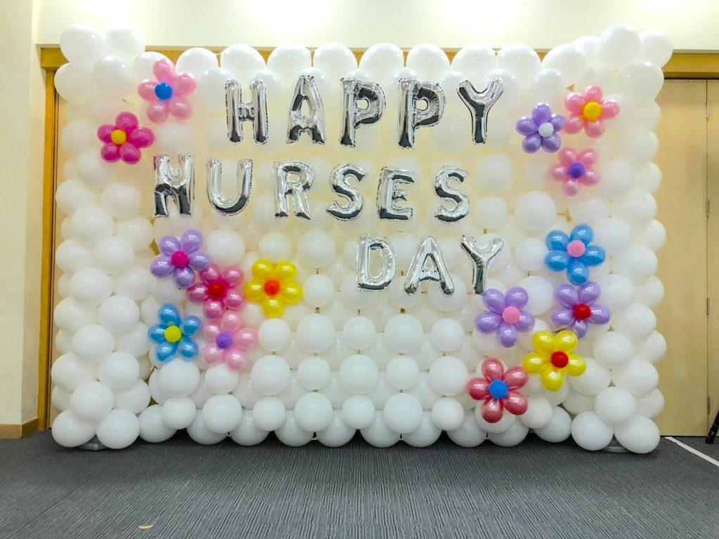 Happy Nurse Day Balloon Backdrop