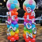 Rainbow Balloon Columns Singapore