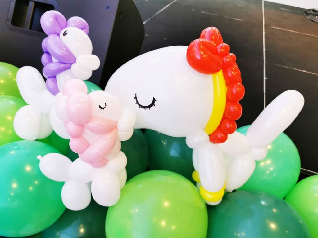 Unicorn Balloon Sculpture Singapore