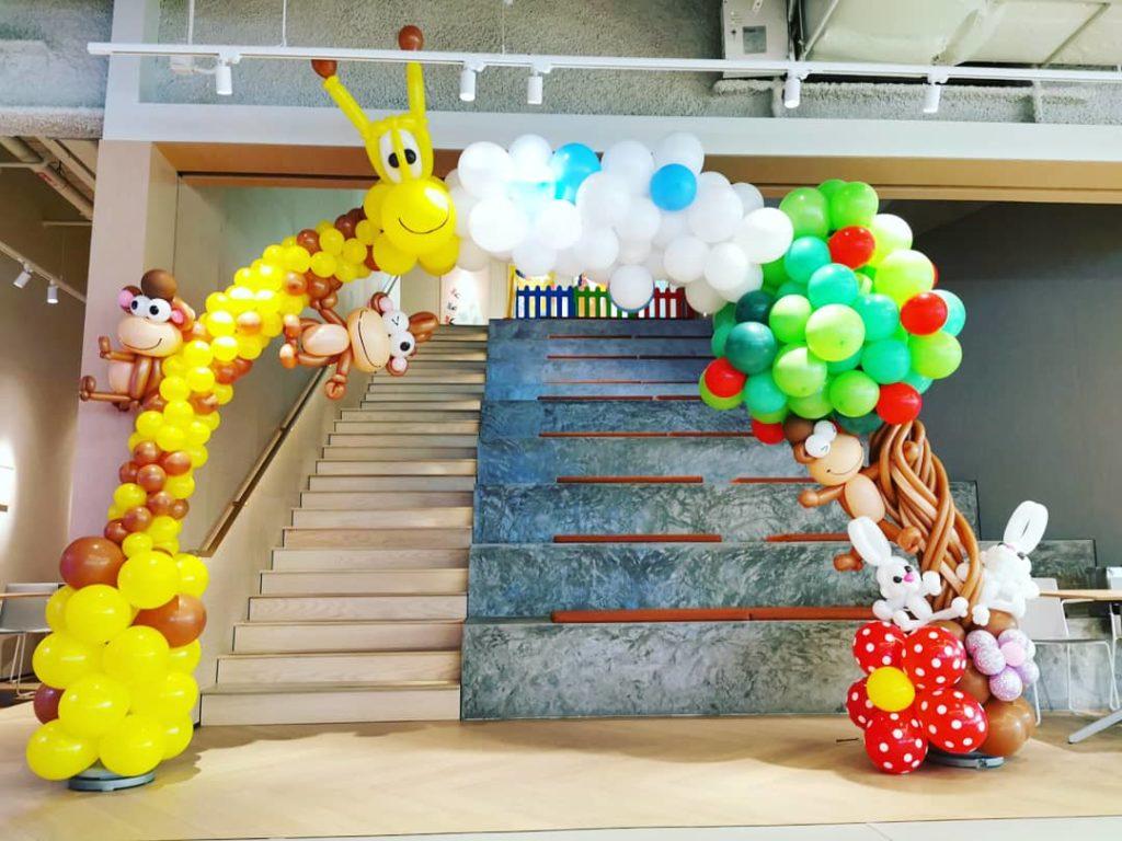 Balloon Giraffe and Tree Arch Singapore
