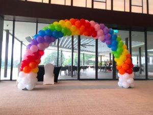 Rainbow Balloon Arch in Singapore