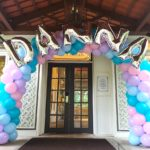 Balloon Arch with Silver Letters