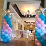 Star Pastel Balloon Columns