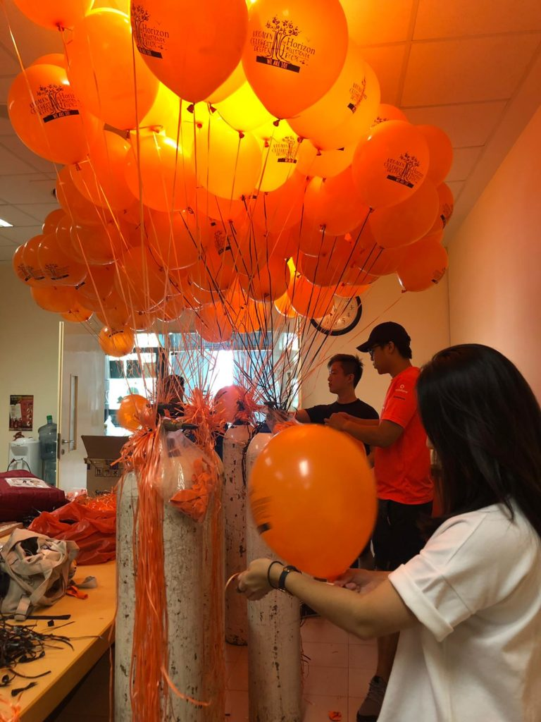 Inflating of Helium Balloons Singapore