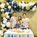 Organic Balloon Arch for Birthday Party