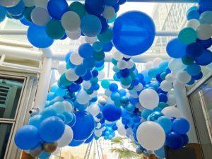 Organic Celing Balloon Decorations