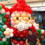 Balloon Santa Claus Mascot Sculpture