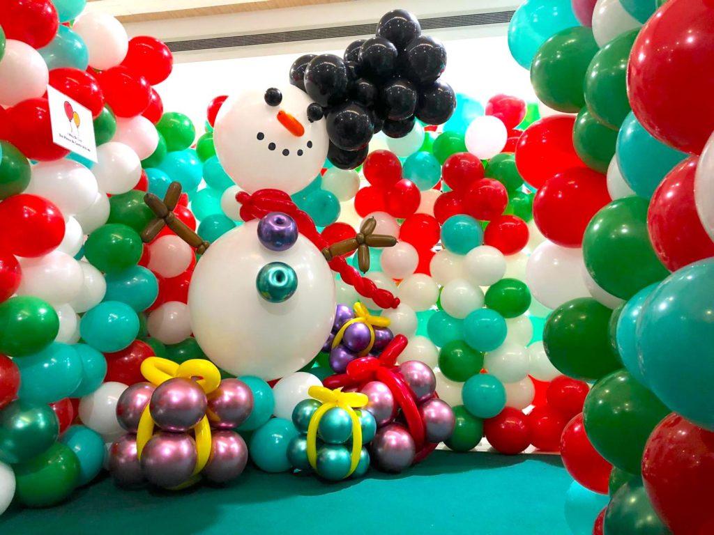 Giant Balloon Snowman Sculpture
