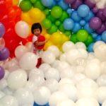 Kids Rainbow Balloon Pit