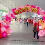 Pink Organic Balloon Arch