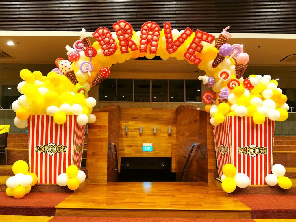 Popcorn Balloon Arch Singapore