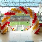 Red white and Gold Balloon Arch