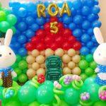 Balloon Rabbit Backdrop Decorations