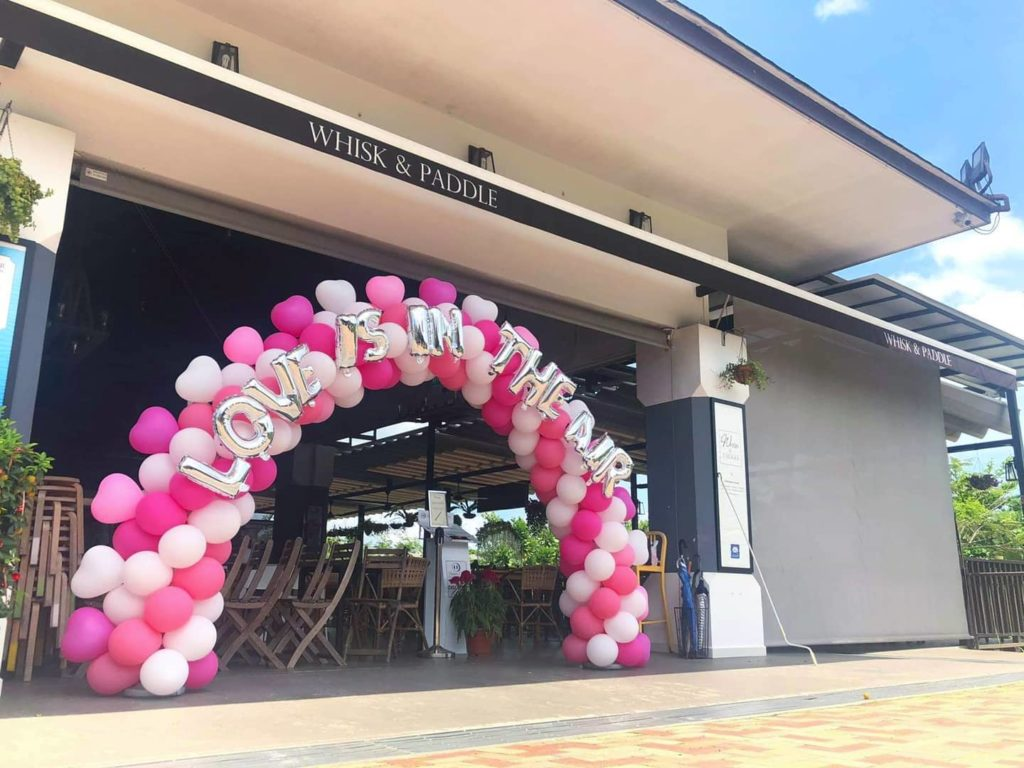 Love Is In The Air Balloon Arch Singapore